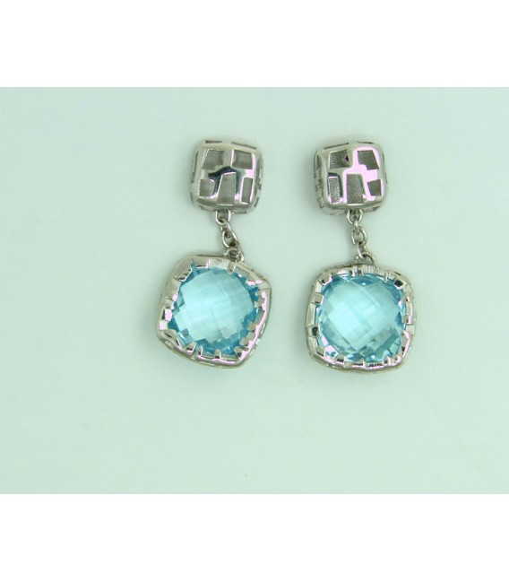 Pendientes Plata The Fifth Season Topacio Azul