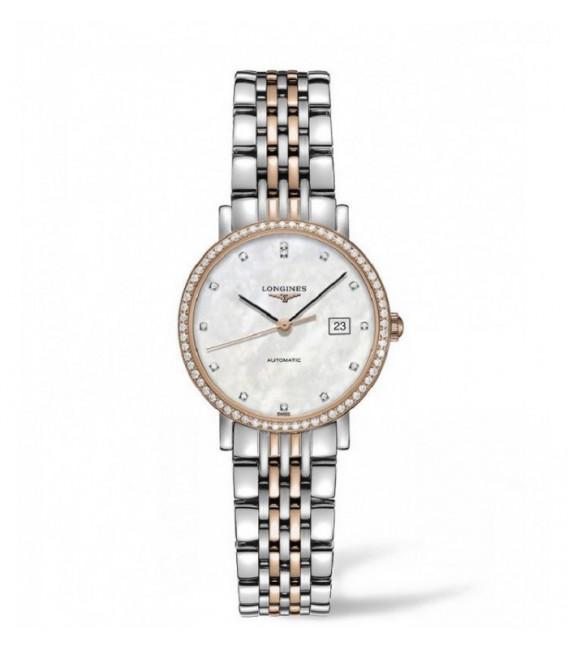 Reloj para mujer Longines Elegant Acero, Oro y Diamantes