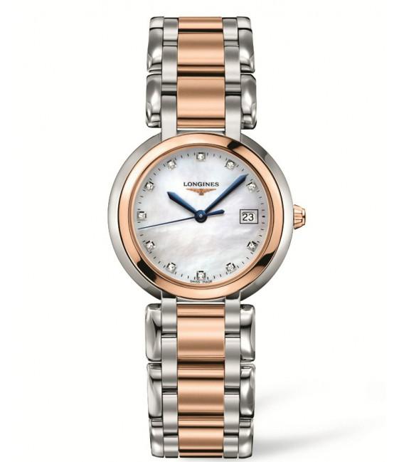 Reloj para mujer Longines Prima Luna acero/oro y Diamantes