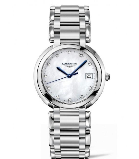 Reloj para Mujer Longines Prima Luna Acero y Diamantes