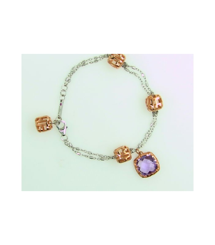 Pulsera Plata The Fifth Season Amatista.
