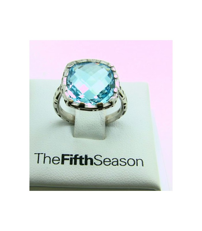 Anillo Plata The Fifth Season Topacio azul.